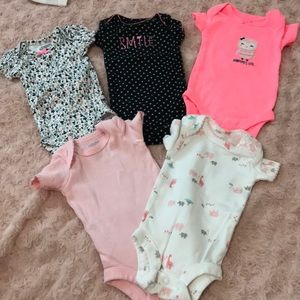 Bundle of Preemie baby girl clothes